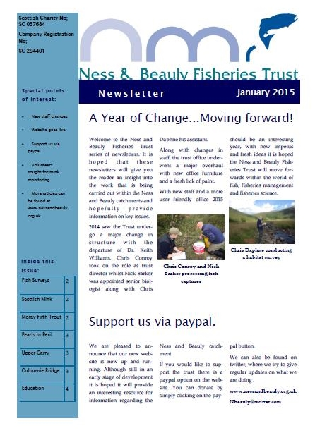 January Newsletter Cover